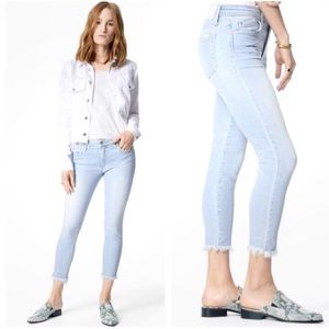 Joe's Jeans The Icon mid rise crop frayed jeans